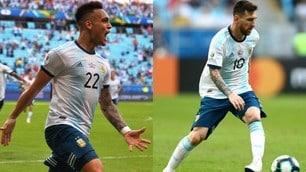 L'Argentina va avanti in Coppa America, la gioia di Messi e compagni