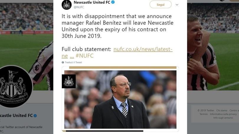Benitez lascia il Newcastle: è ufficiale