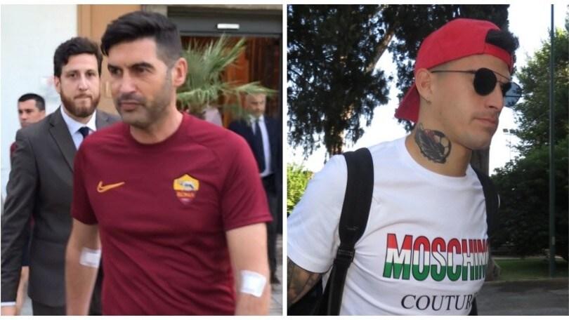 Roma, Paulo Fonseca e Perotti a Villa Stuart per le visite mediche