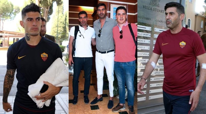 Roma, Fonseca a Villa Stuart per le visite mediche: presente Perotti