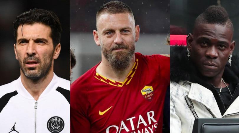 Da Buffon e De Rossi a Balotelli, la top 11 degli svincolati