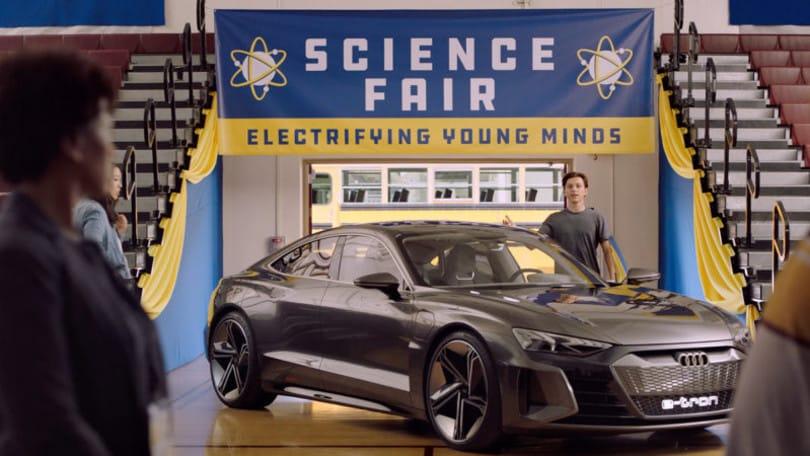 Audi e-tron con Spider Man VIDEO