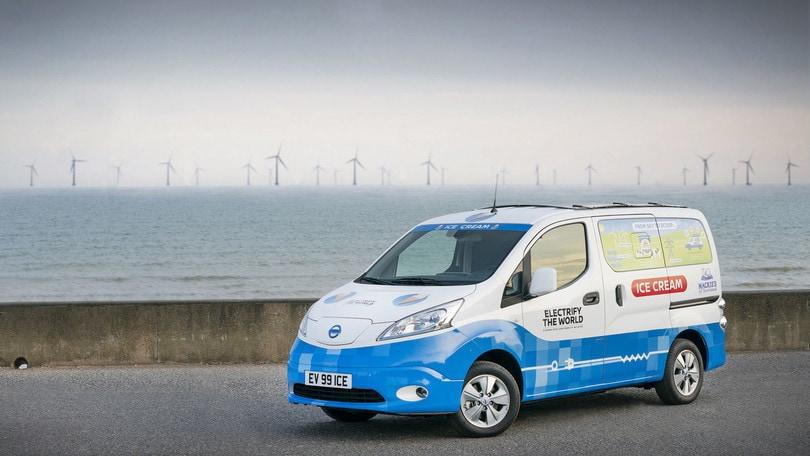 Nissan e-NV200, il concept elettrico per i gelati - FOTO e VIDEO
