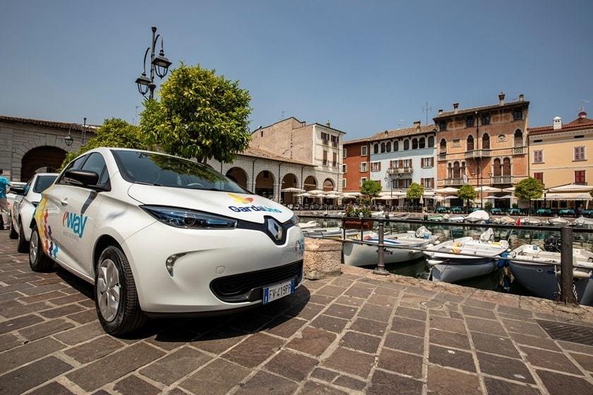 E-Way, sul Lago di Garda car sharing elettrico: le foto