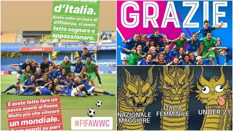 Italia, i complimenti dei social: grazie, #ragazzemondiali!