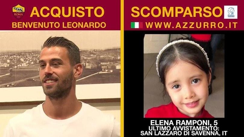 La Roma annuncia Spinazzola con un video dedicato ai bambini scomparsi