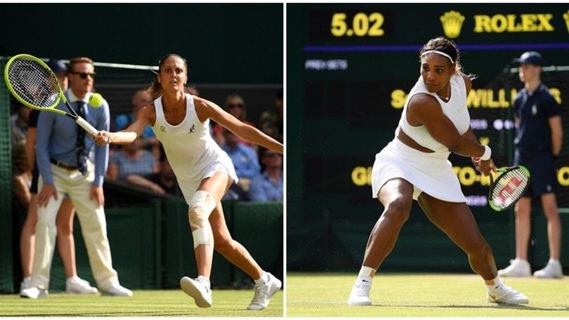 Wimbledon, Serena Williams elimina un'ottima Gatto-Monticone