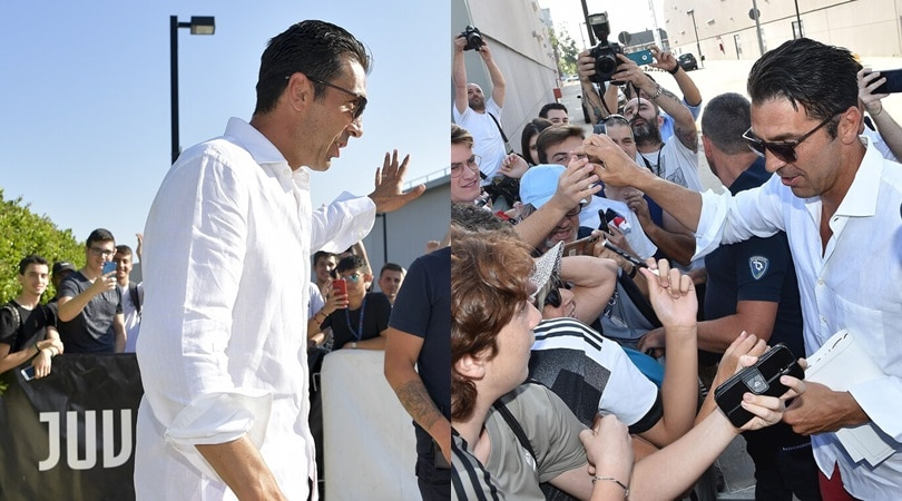Juve, il ritorno di Buffon. Che accoglienza dei tifosi