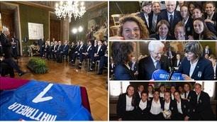 Tra selfie e sorrisi, l'Italia femminile conquista anche Mattarella