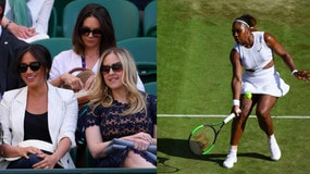 Meghan Markle, moglie del principe Harry, a Wimbledon per Serena Williams