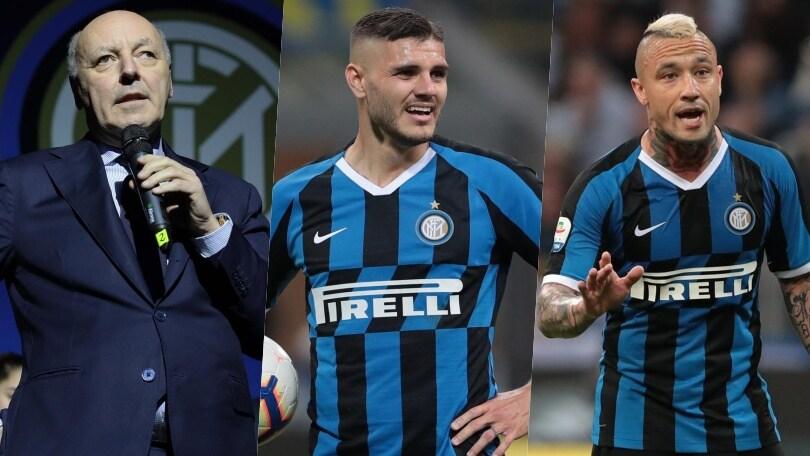 """Marotta: """"Icardi e Nainggolan non rientrano nel progetto Inter"""""""