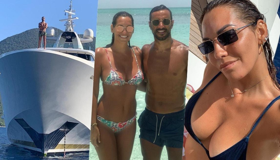Quagliarella, relax con la sua Debora su un super Yacht!