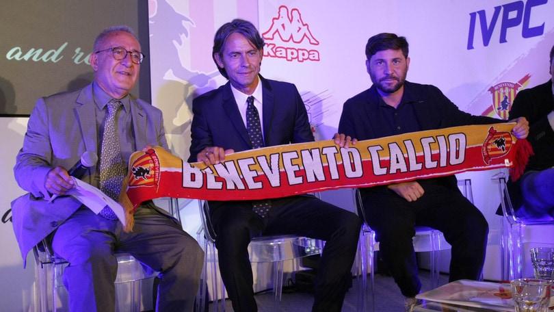 """Benevento, comincia l'era Inzaghi: """"Riconquisteremo sul campo la serie A"""""""