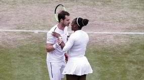 Andy Murray, che bacio con Serena Williams aWimbledon