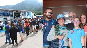 Napoli, De Laurentiis a Dimaro è osannato dai tifosi