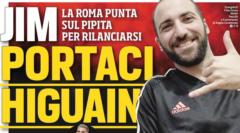 #JimportaciHiguain: vi piace l'idea Higuain per la Roma?