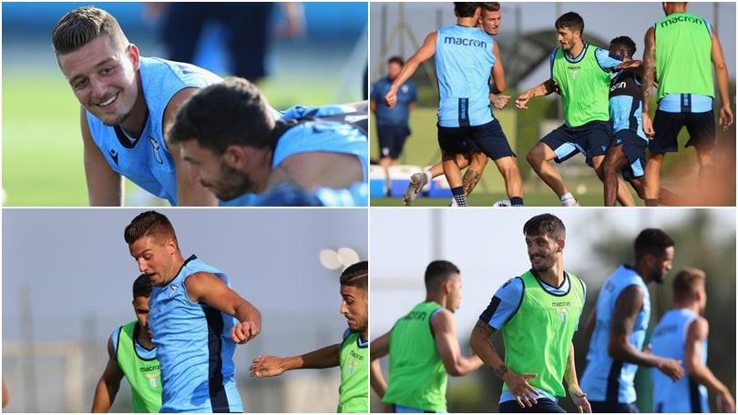 Lazio, il sorriso di Milinkovic e Luis Alberto: sono già protagonisti