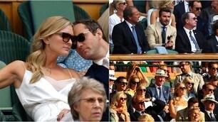 Federer schianta Nadal davanti lo sguardo attento di Beckham, Ferguson e Jude Law