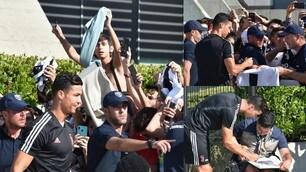 Juve, Cristiano Ronaldo arriva al J Medical: che accoglienza da parte dei tifosi!