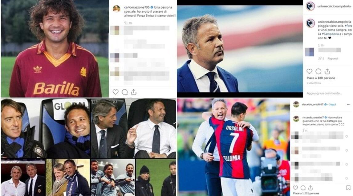 <p>Club, giocatori, presidenti, ex compagni di squadra: tutta la vicinanza e tutto l'affetto per Sinisa uniscono il web</p>