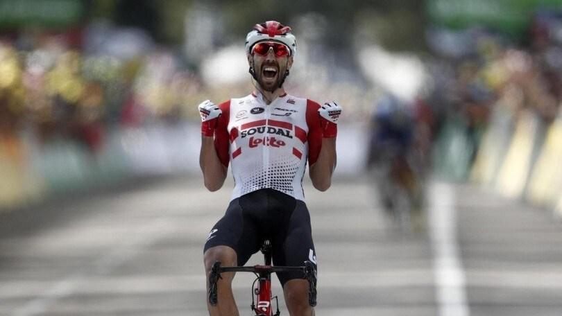 De Gendt vince l'ottava tappa del Tour: crollo Nibali