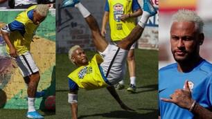 Neymar, spettacolo e nuovo look al 'suo' torneo di calcetto