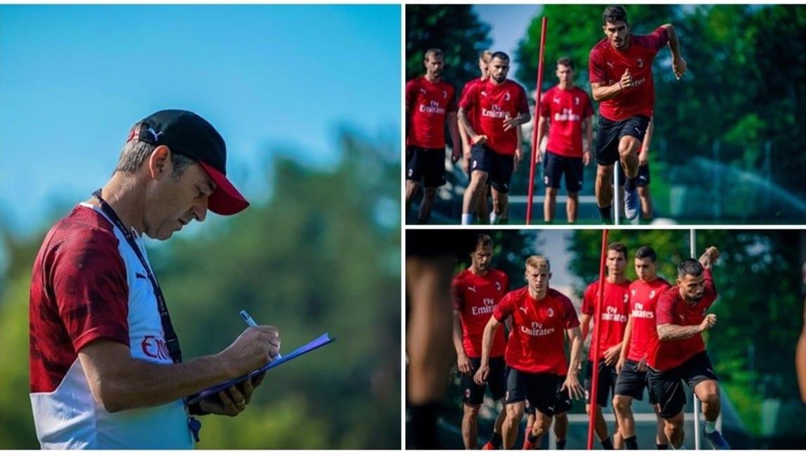 I rossoneri proseguono la preparazione atletica nel ritiro di Carnago presso il Milanello Sports Center. Il tecnico ex Samp sta conquistando il gruppo con i suoi approcci votati alla calma e al dialogo