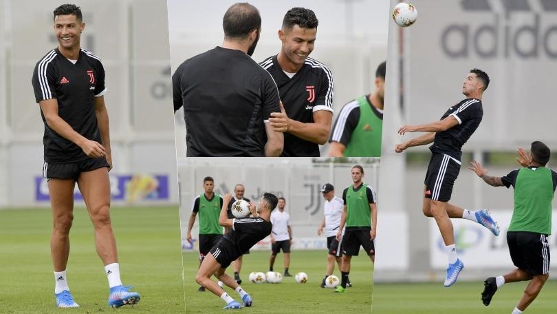 Juve, sorrisi e concentrazione al massimo. E Ronaldo è già in grande forma