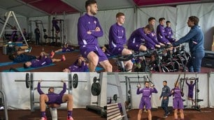 Fiorentina, sessione d'allenamento in palestra. Veretout ancora non si vede