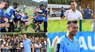 Lazio, che festa per Radu! Abbraccio con la squadra e i tifosi