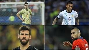 Coppa America, la Top11: ci sono James Rodriguez e due ex Roma