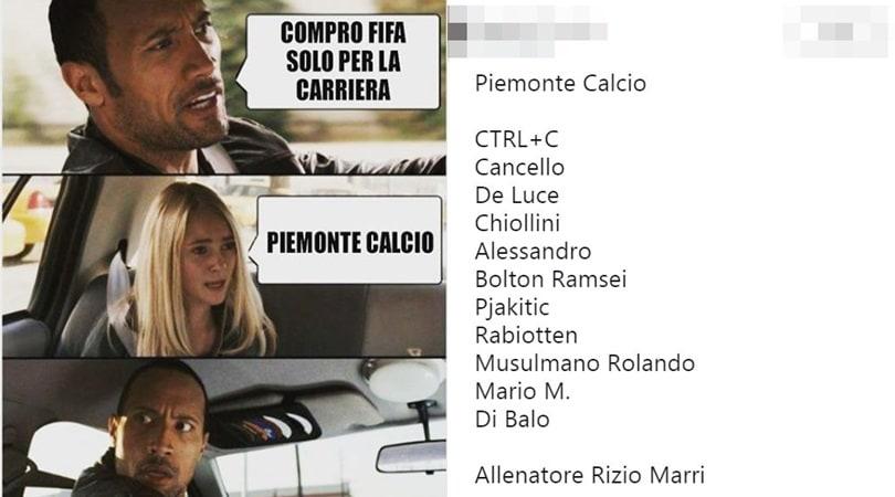 FIFA20, la Juve diventa Piemonte Calcio. Il web si scatena