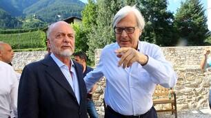 De Laurentiis, pomeriggio in compagnia di Sgarbi