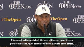 """Tiger Woods: """"Che fatica vincere il Masters"""""""