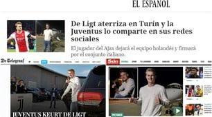 De Ligt alla Juve: la stampa estera celebra l'affare