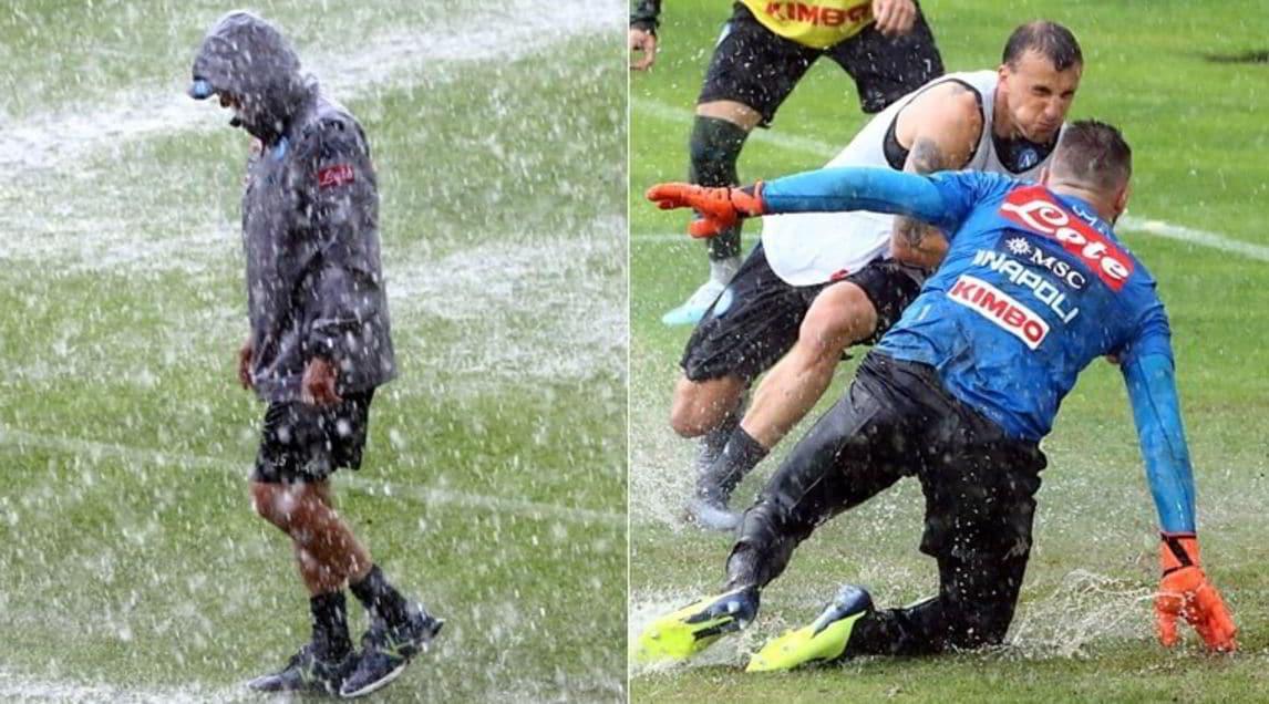 <p>La squadradi Ancelotti, impegnata nel ritiro in Trentino, stacontinuando la preparazione ma la seduta odierna è stata arrestata a causa di un temporale</p>