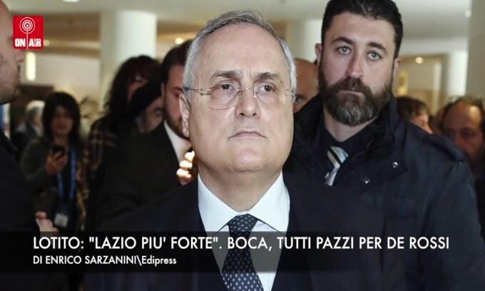 """Lotito: """"Lazio più forte"""". Argentina, tutti pazzi per De Rossi"""