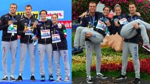 L'Italia vince la medaglia d'argento nella staffetta mista 5 km