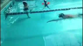 Manuel Bortuzzo torna ad allenarsi in vasca