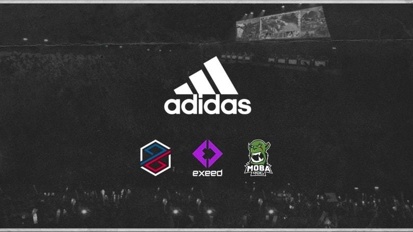Adidas entra ufficialmente nel gaming competitivo con PG Esports, Exeed e MOBA ROG