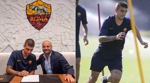 La Roma ufficializza Mancini: firma e allenamento