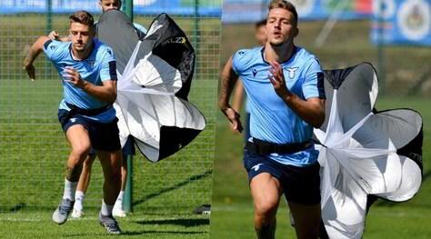 Lazio, Milinkovic-Savic e gli altri corrono con il paracadute