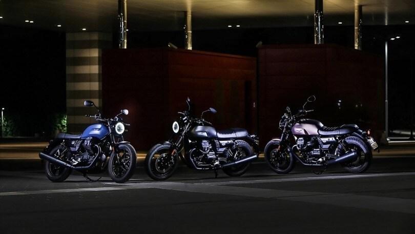 Moto Guzzi V7 III Stone Night Pack: tre varianti 'oscure'