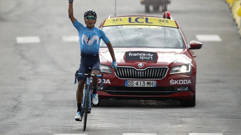 Tour de France, Quintana vince sulle Alpi. Alaphilippe sempre in giallo