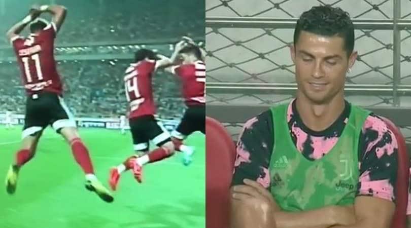 Team-K League-Juve, Cesinha segna ed esulta come Ronaldo