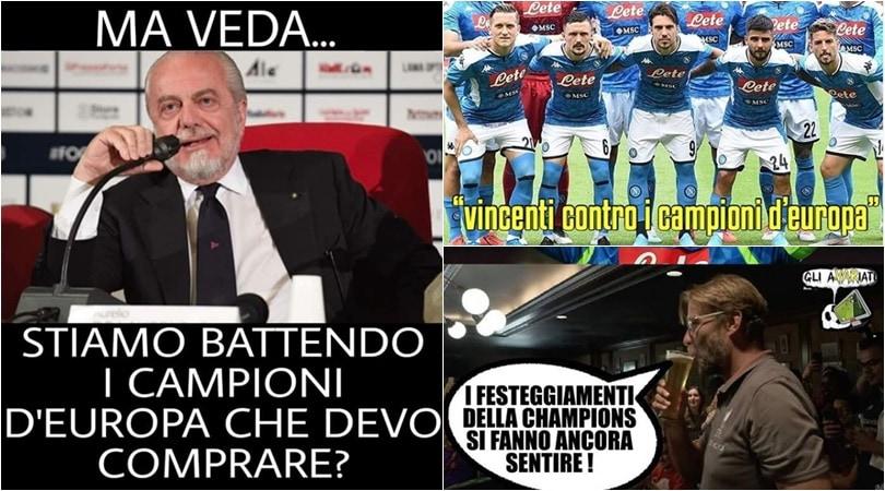 Napoli, tris al Liverpool: l'ironia social sulla vittoria contro i campioni d'Europa