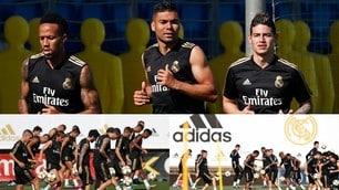 James si allena con il Real Madrid, trattativa in salita per il Napoli