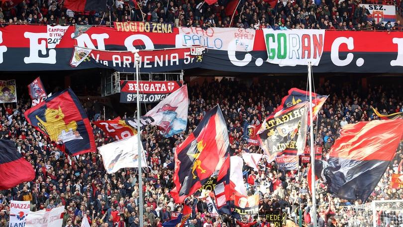 Genoa, tregua per la gara con l'Atalanta: tornano gli striscioni