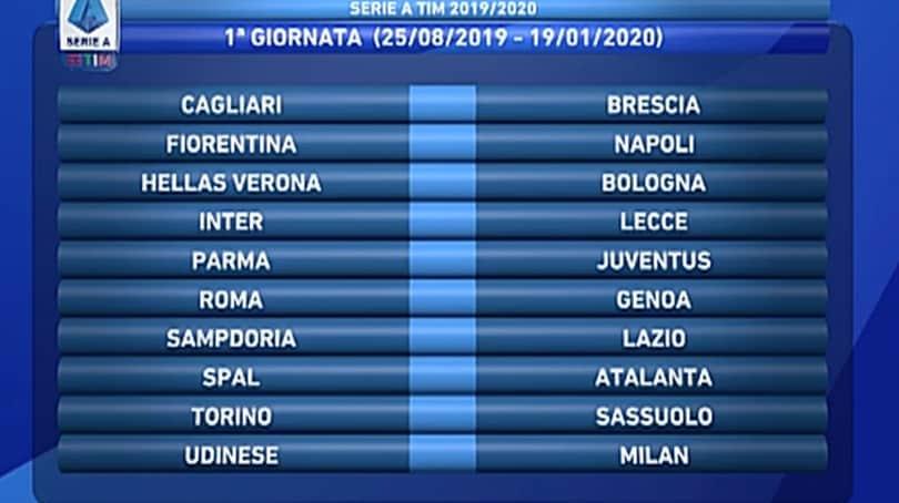 Calendario Serie A 1 Giornata.Calendario Serie A 2019 20 Tutte Le 38 Giornate Corriere