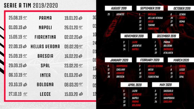 Campionato Serie A Calendario.Serie A Ecco Il Calendario Delle Big Squadra Per Squadra